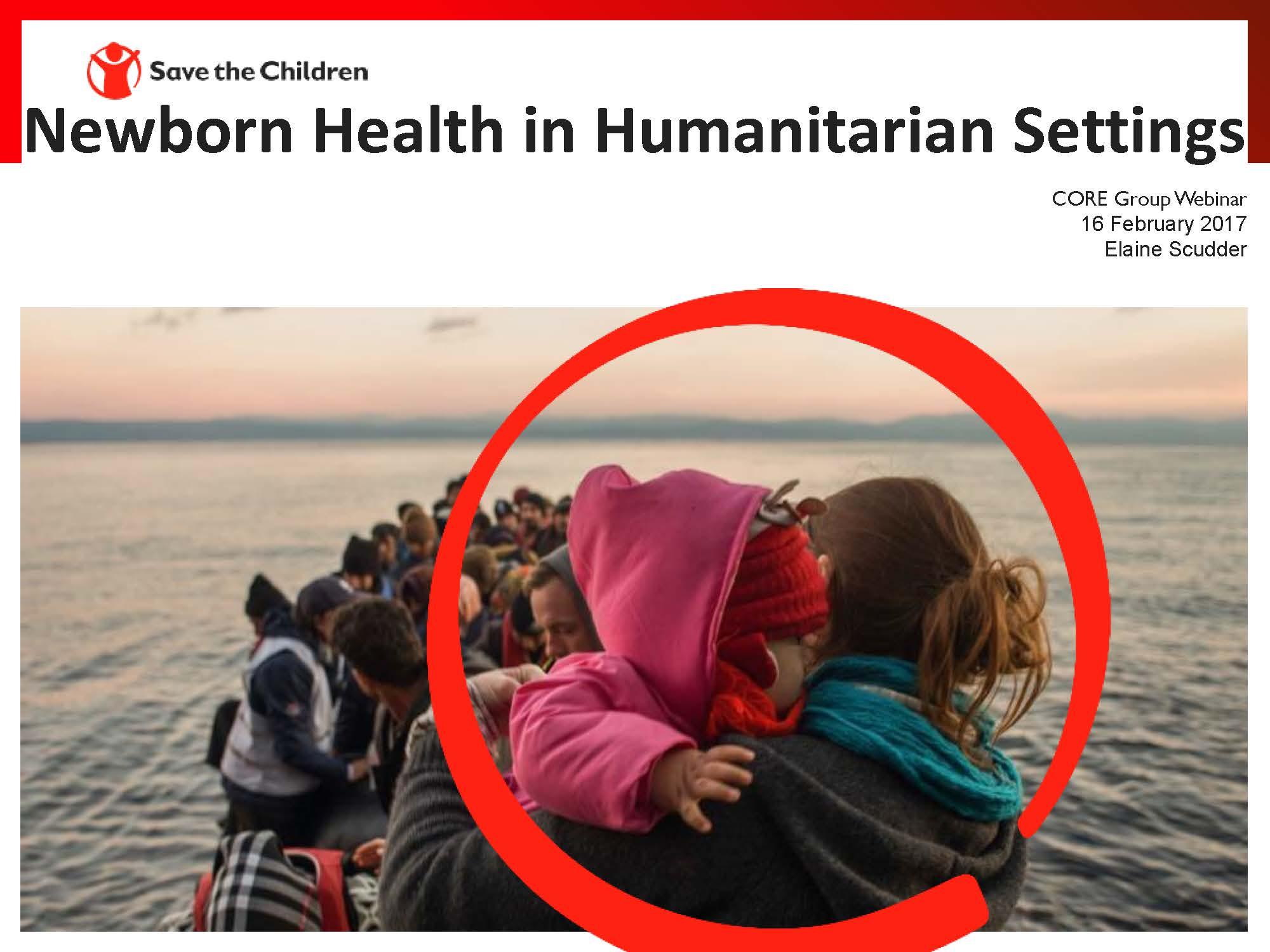 Newborn Health in Humanitarian Settings Guide