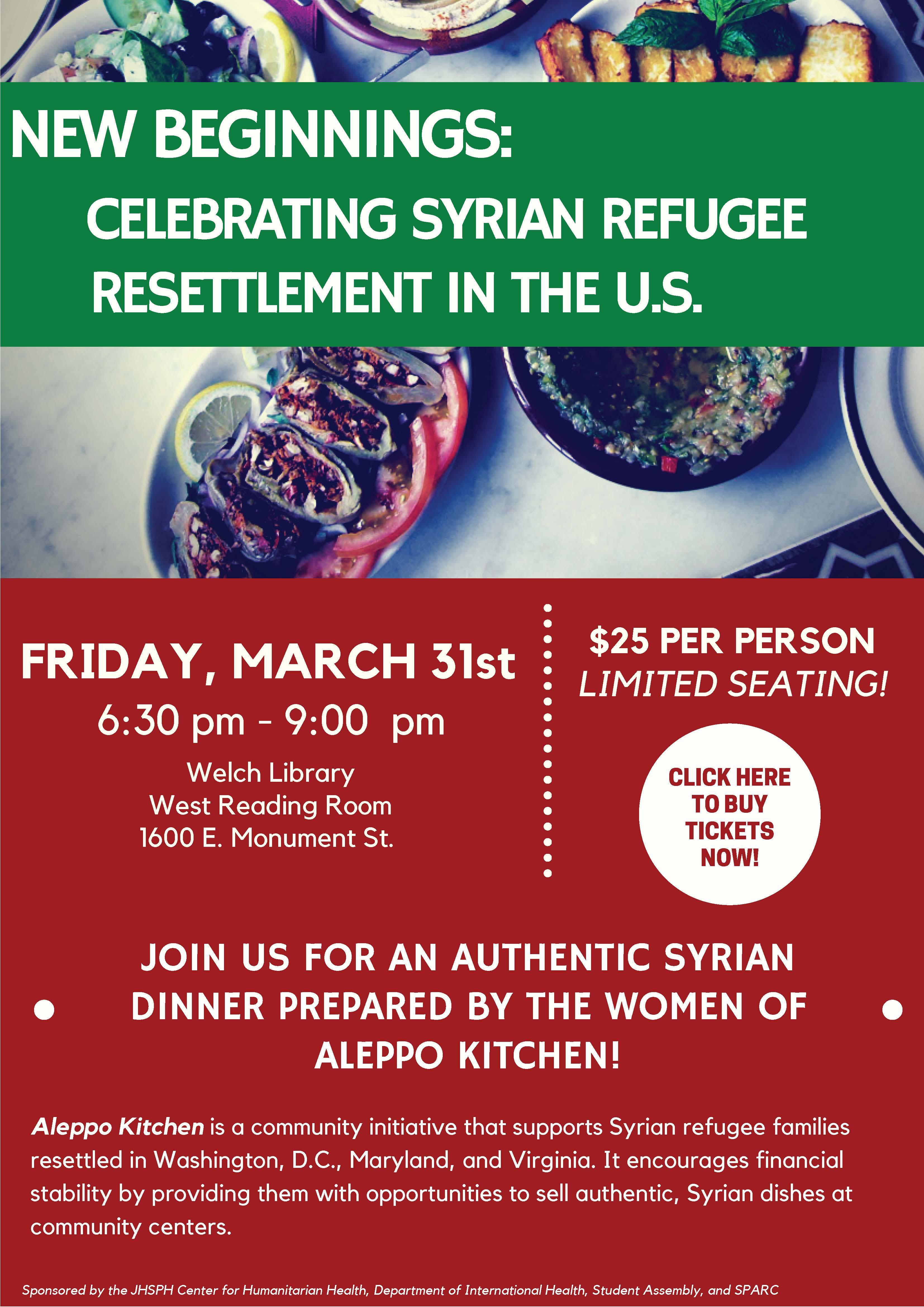 New Beginnings: Celebrating Syrian Refugee Resettlement
